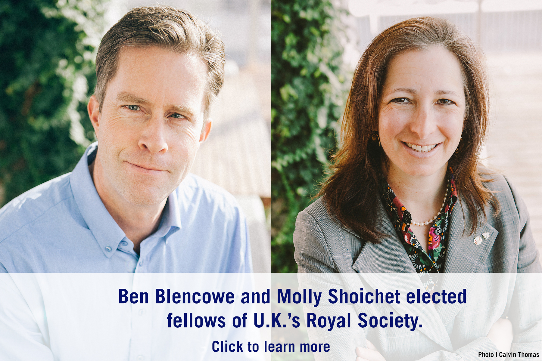 Ben Blencowe and Molly Shoichet
