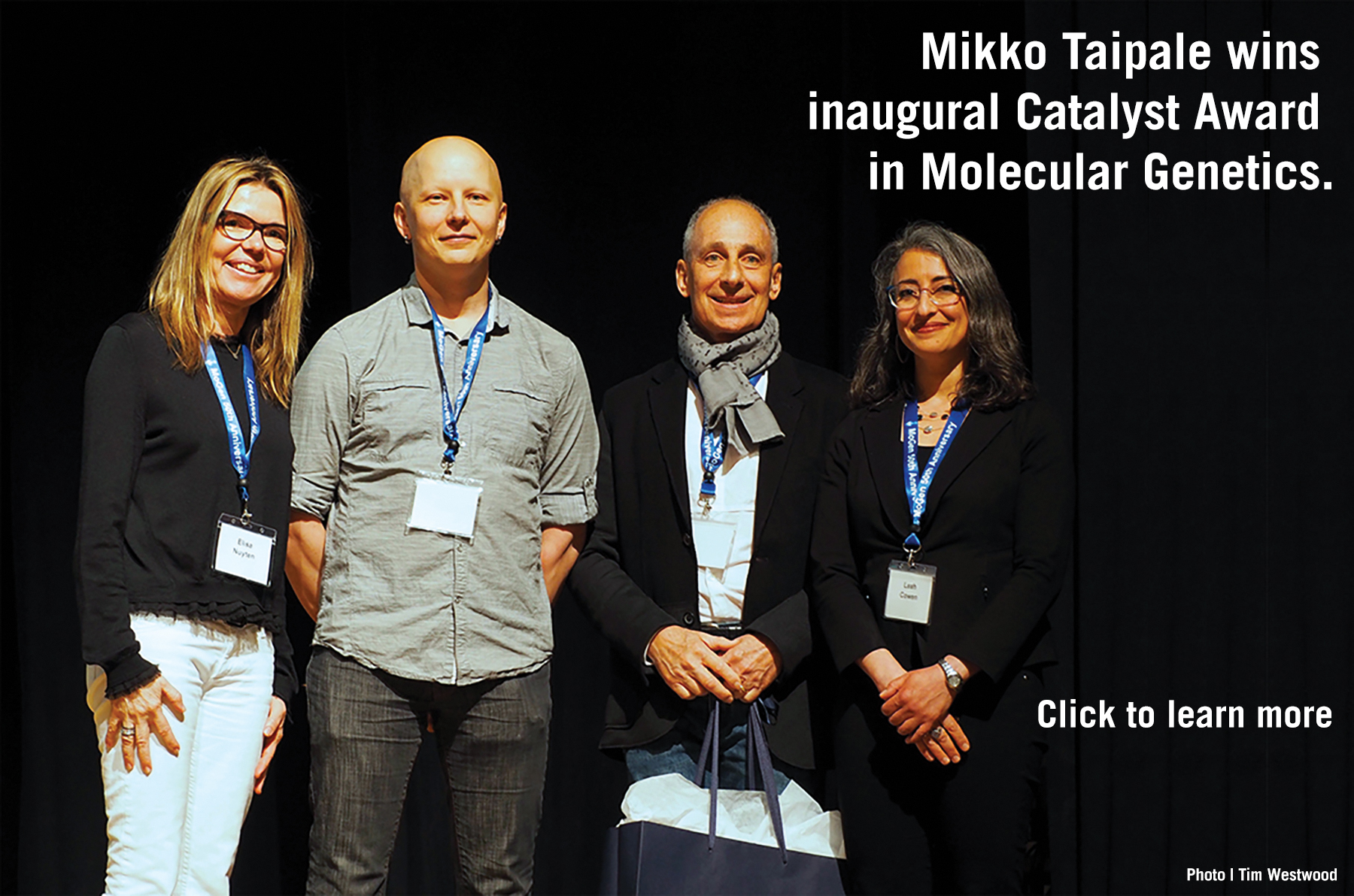 Mikko Taipale with Leah Cowen and donors